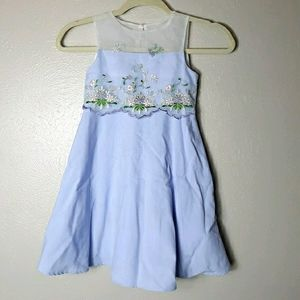 Rare editions periwinkle a line dress